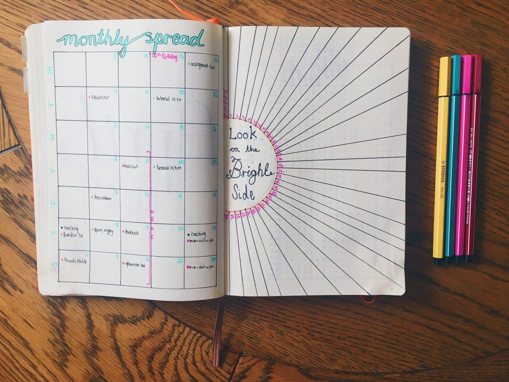 Lines 2 Day Bullet Journal