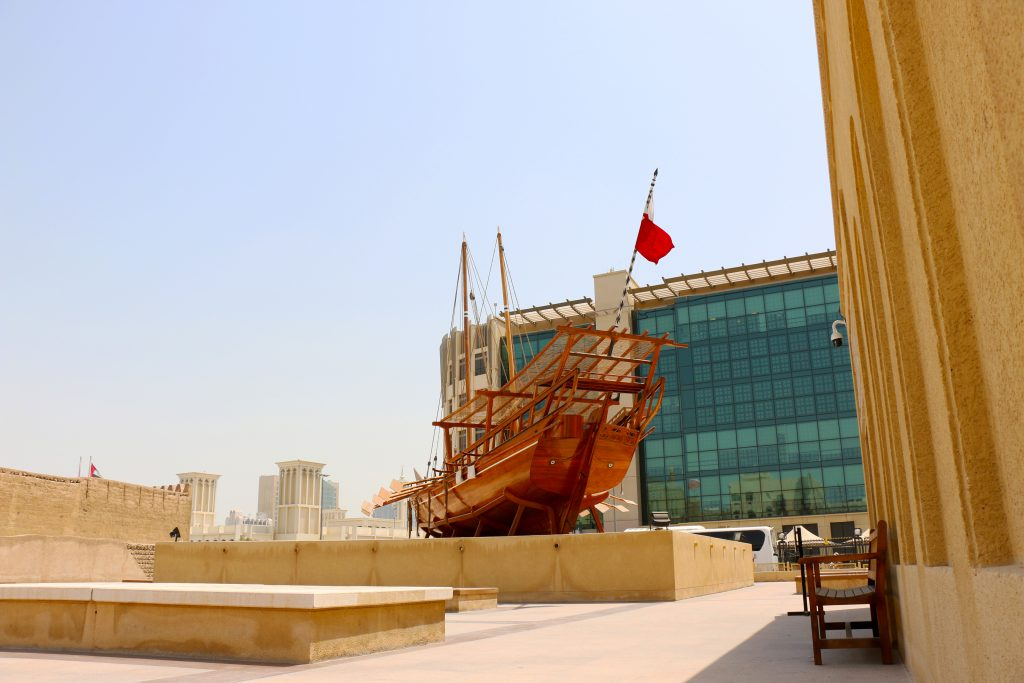 boat outside Dubai Museum - 2 day itinerary for dubai