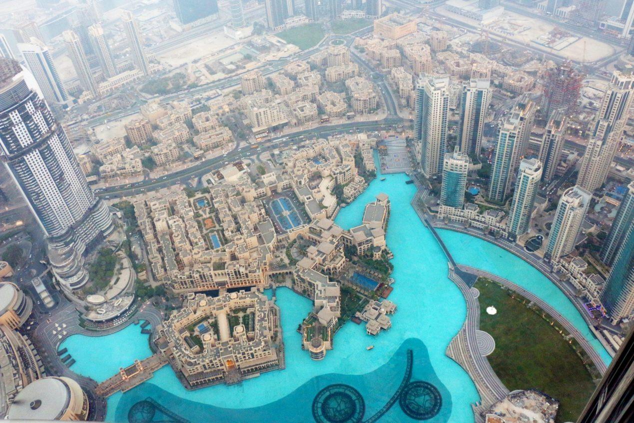 views from Burj Khalifa