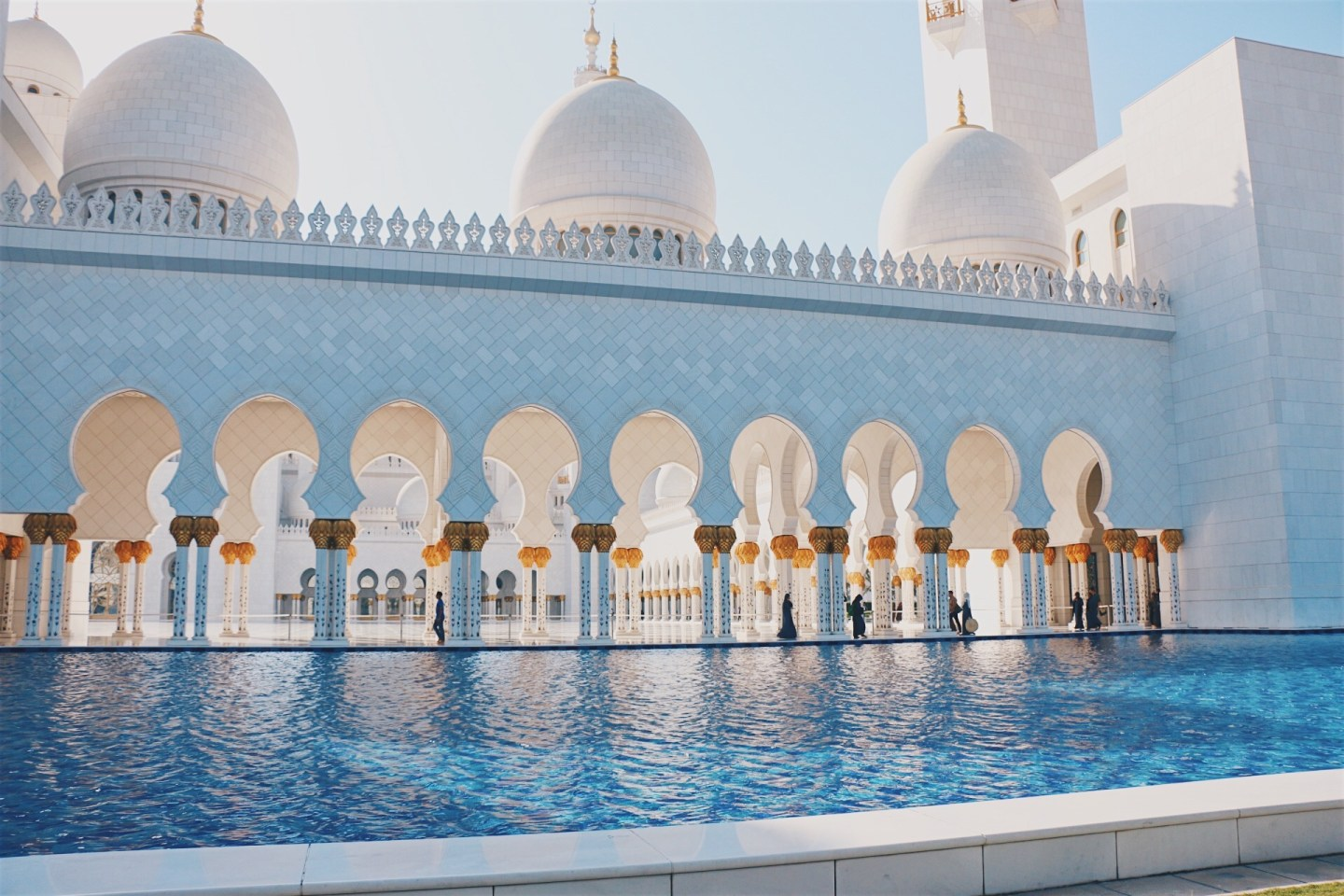Visiting Sheikh Zayed Mosque Abu Dhabi