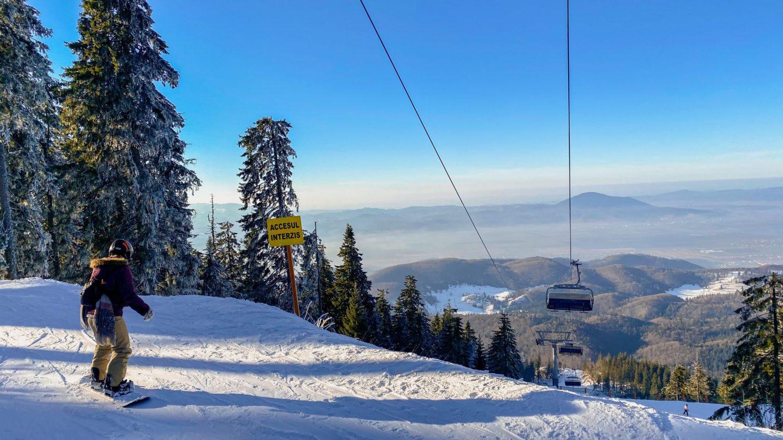 snowboarding in Poiana Brasov