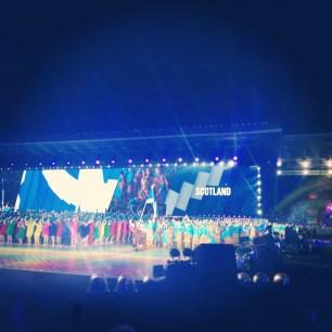 Glasgow 2014 opening ceremony