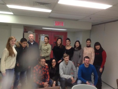 My French class group in Montreal