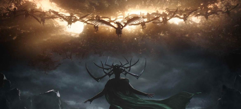 Cate Blanchett as Hela in Thor Ragnarok.
