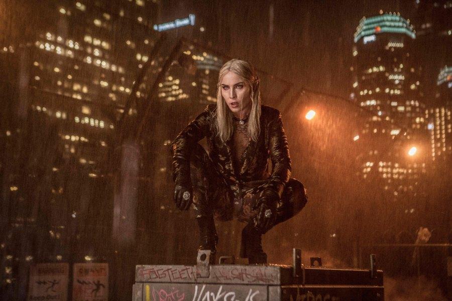 Noomi Rapace as Leilah Joel Edgerton as Officer Nick Jakoby in Netflix's Bright   Photo: Netflix
