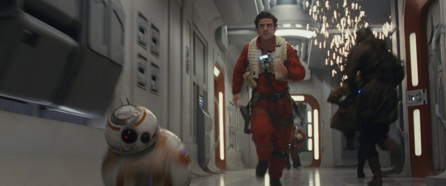 BB-8 and Poe Dameron (Oscar Isaac).