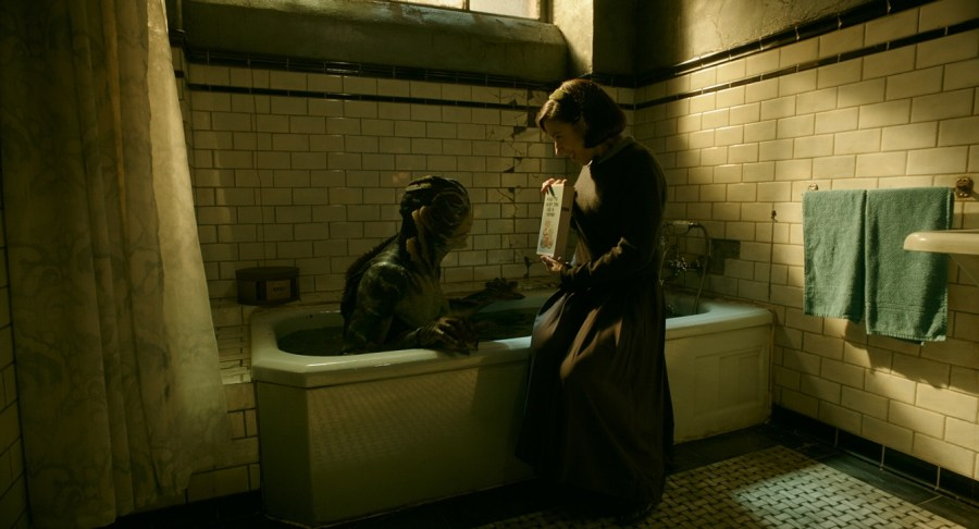 An unlikely romance buds in The Shape of Water. | Credits: 20th Century Fox