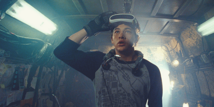 Tye Sheridan as Wade Watts in Ready Player One.
