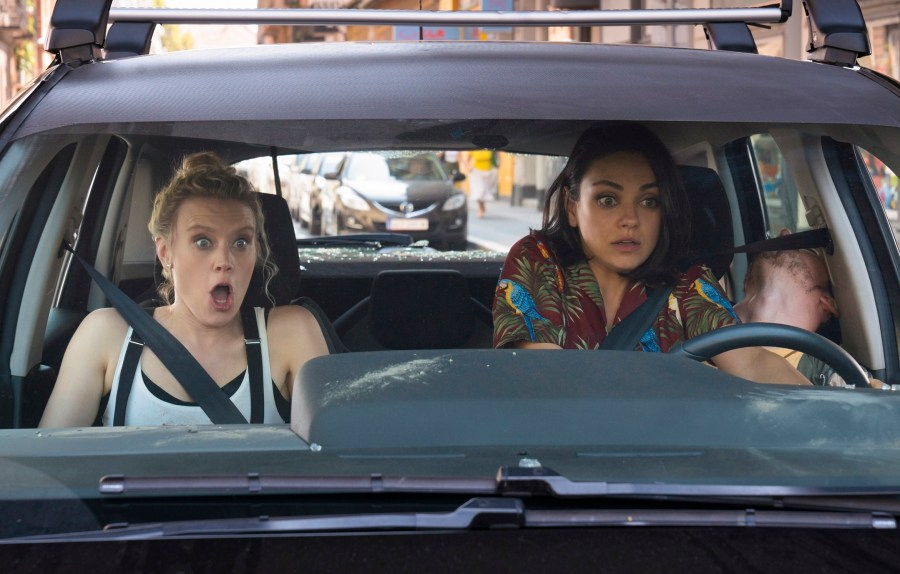 "Kate McKinnon as ""Morgan"" and Mila Kunis as ""Aubrey"" in THE SPY WHO DUMPED ME. 