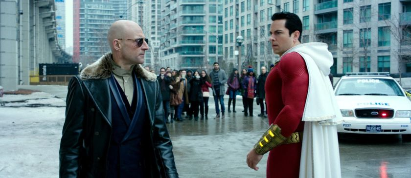 Shazam meets his foe Doctor Sivana in Shazam! | The Little Binger | Credits: Warner Bros. Pictures