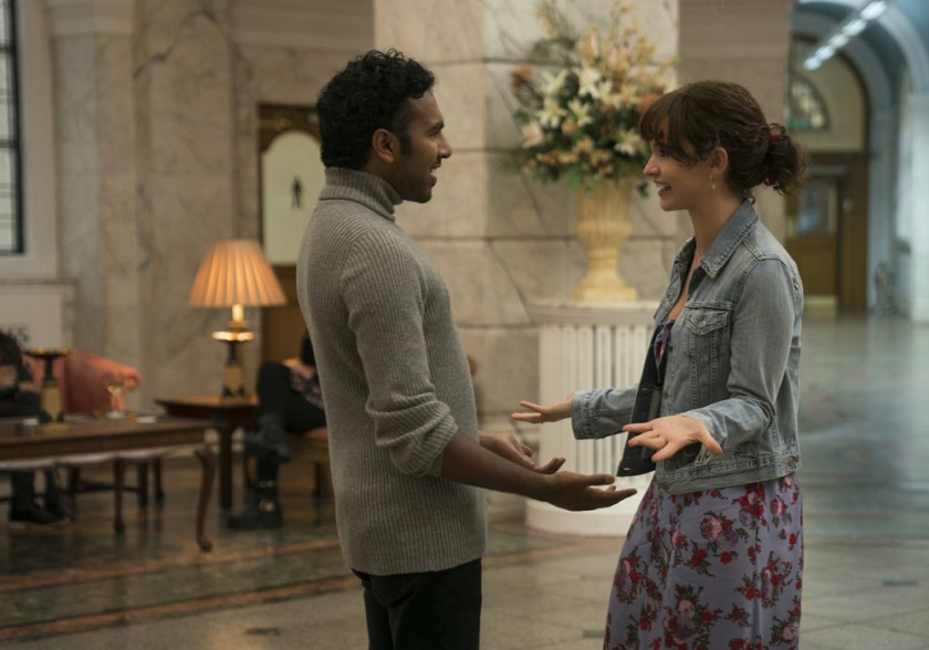 Himesh Patel and Lily James in Yesterday. | The Little Binger | Credit: United International Pictures