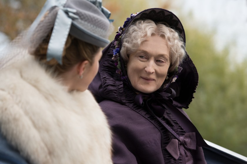Amy March (Florence Pugh) and Aunt March (Meryl Streep) in Greta Gerwig's LITTLE WOMEN. | The Little Binger | Credit: Columbia Pictures