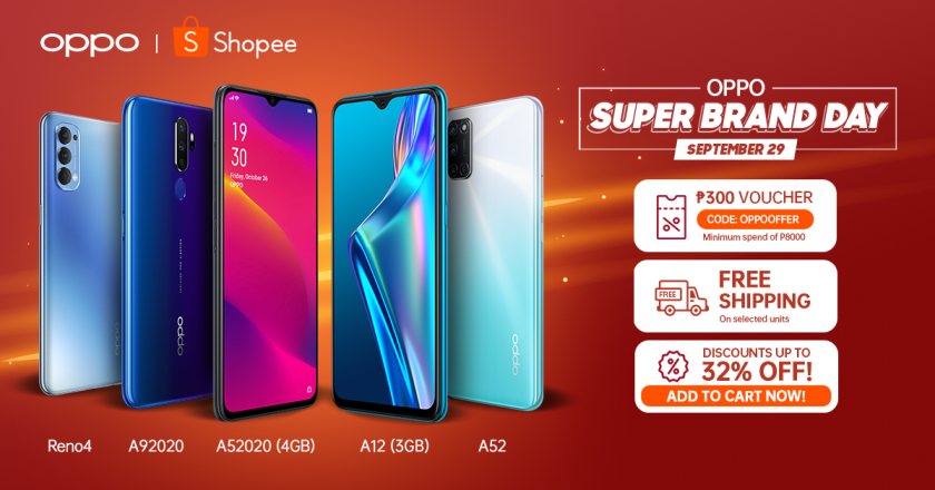 LOOK: Up To 32% Off at OPPO Super Brand Day on Shopee! | The Little Binger