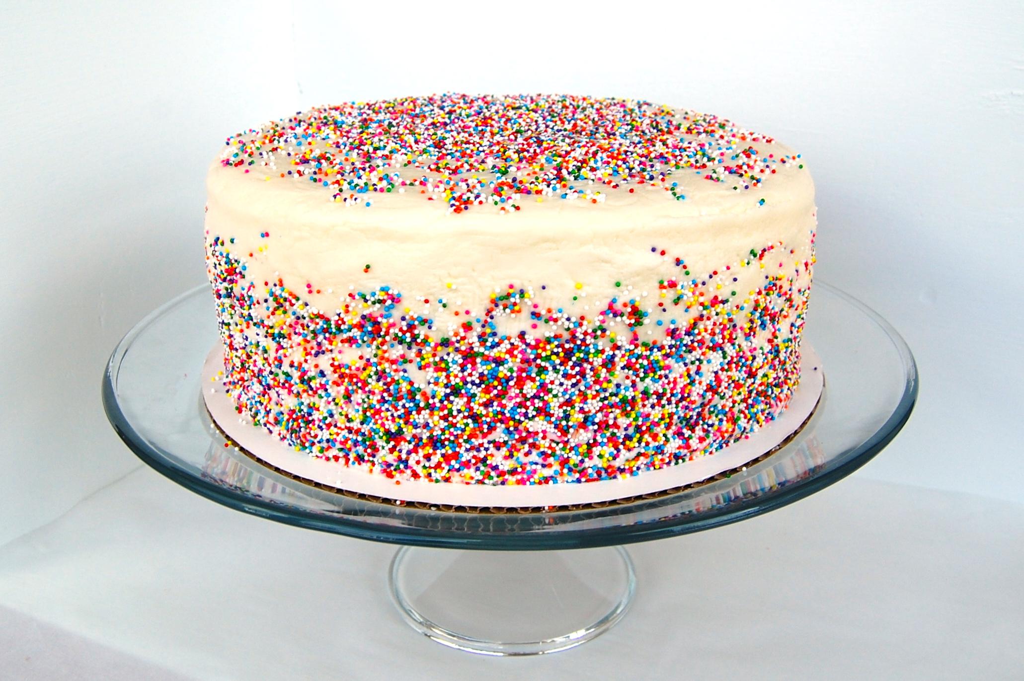 Vanilla Sprinkle Cake Week 52 Thelittlebluemixer