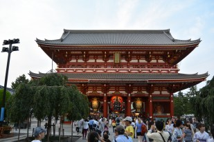 """The Nakamise-Dori leaders to Hōzōmon or """"Treasure House Gate"""" which provides the entrance to the inner complex"""