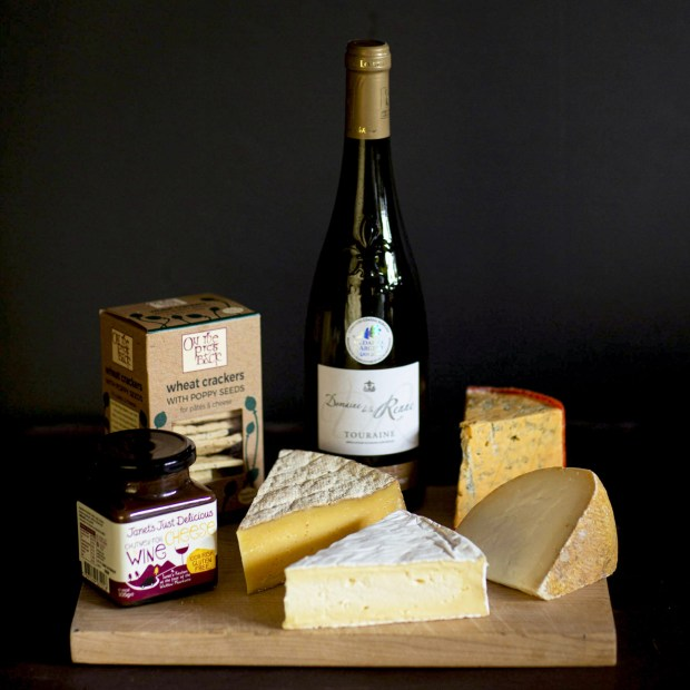 Cheese and Wine Gift Hamper scaled