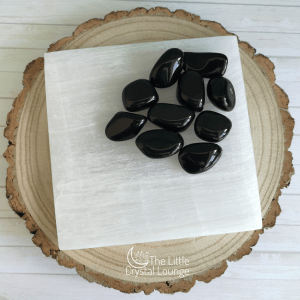 Selenite square chleansing plate