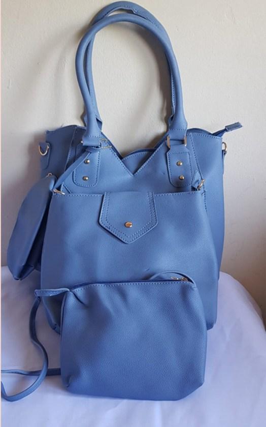 4 Piece Handbag Set Light Blue - Buy Online