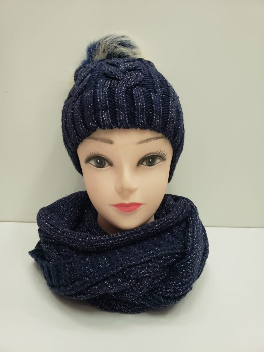 Navy Scarf and Hat Set - Buy Online