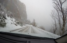 Snowy switchbacks