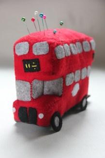 London Bus pin cushion review by Crafty Nana