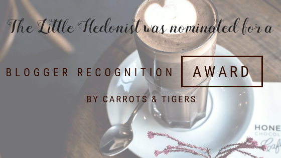 Another Blogger Recognition Award for TLH!