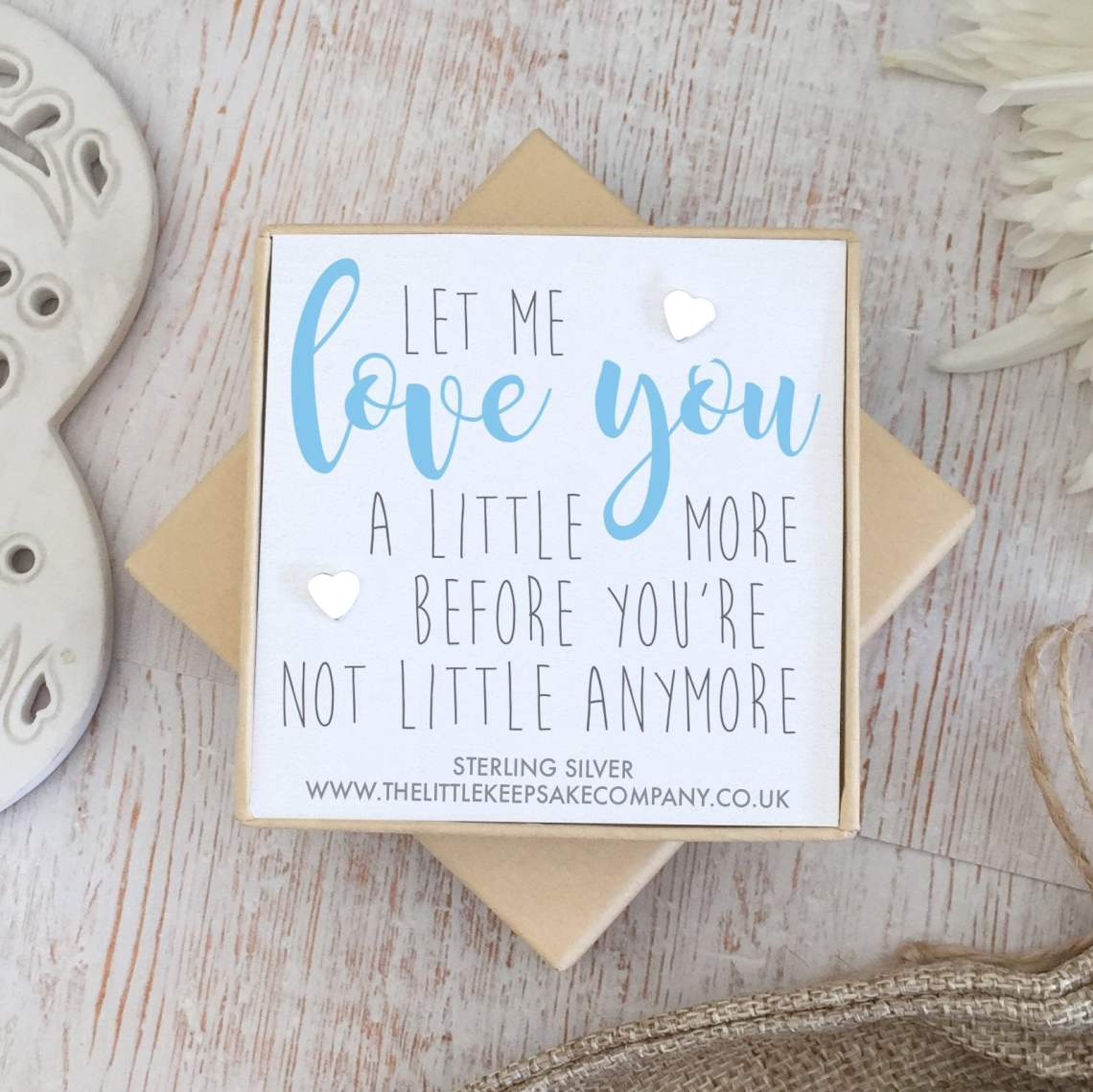 Download Sterling Silver 'Let Me Love You A Little More' Quote ...