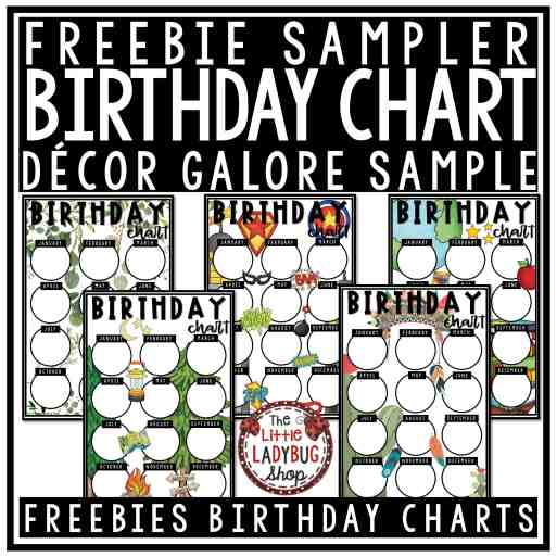 Freebie Birthday Chart