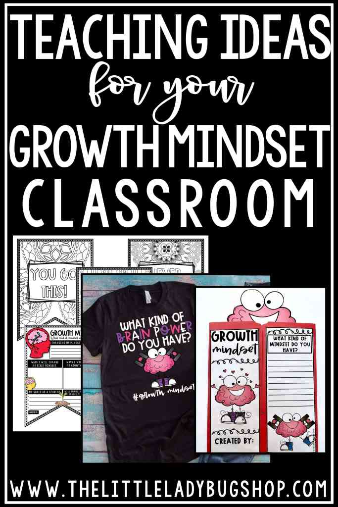 Growth Mindset Teaching Ideas and Growth Mindset Freebie for teaching grit, growth mindset