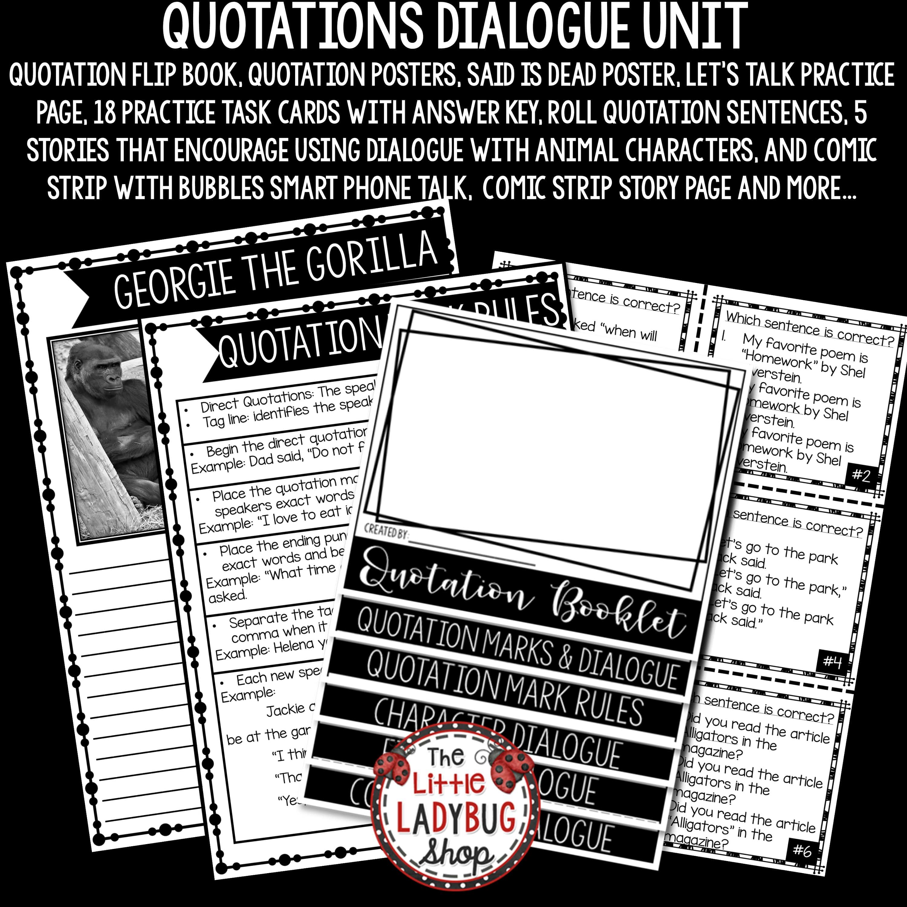 Quotation Marks Activities Amp Dialogue Worksheets Bundle