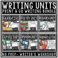 Personal Narrative Writing Unit - Small Moment Writing