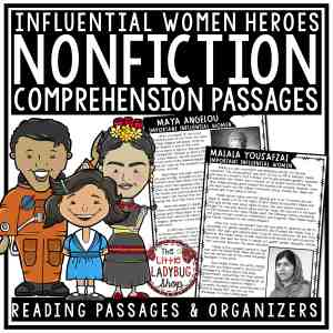 Women's History Nonfiction Reading Passages for 3rd Grade & 4th Grade