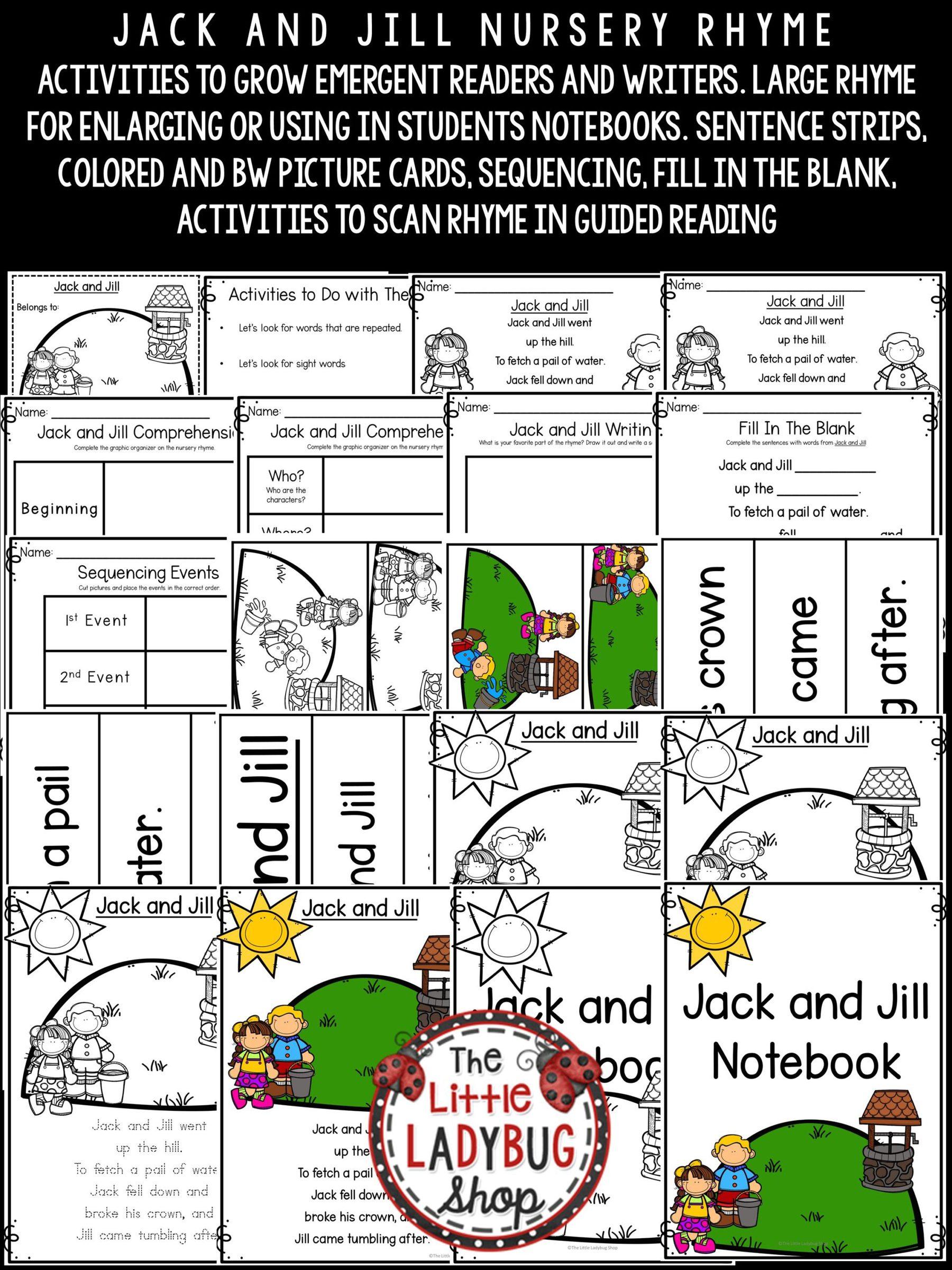 Jack And Jill Nursery Nursery Rhyme For Kindergarten