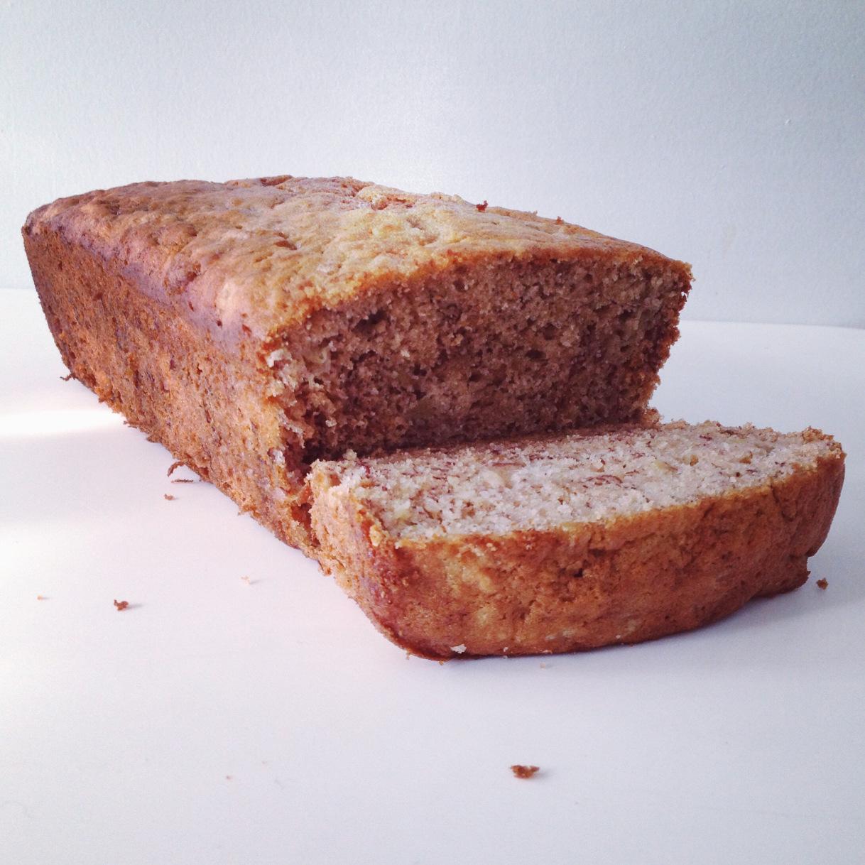 The Little Loft - banana bread cut