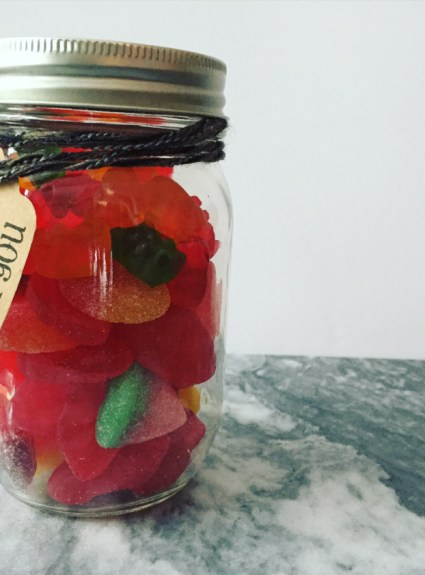 Candy jar party favours
