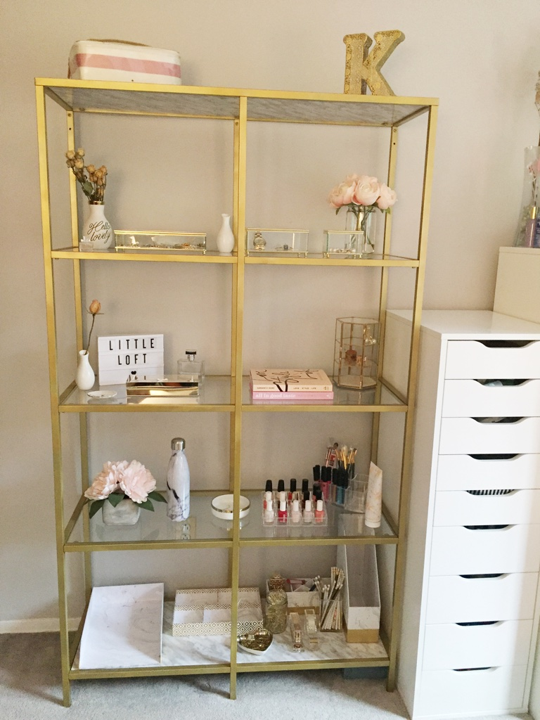 Ikea Gold Bookshelf