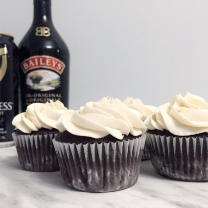 Stout Cupcakes with Baileys Frosting