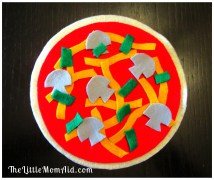 Felt Pizza Indoor Activity for toddlers