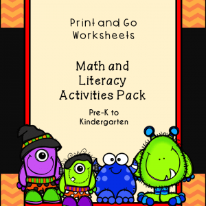 Print and Go Halloween Math and Literacy Activities Pack