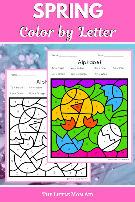 Spring Color by Code, Letter Printables, Alphabet Printables. Alphabet Coloring Pages