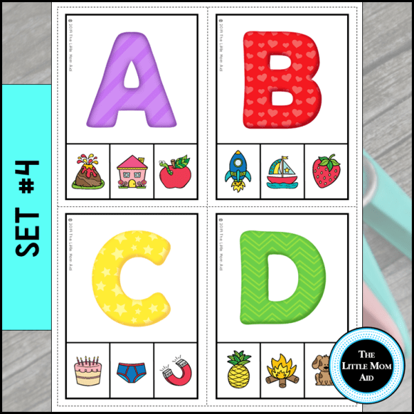 Alphabet Activity Preview Set 4 Match Letters to Sounds