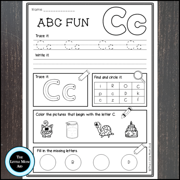 Alphabet Worksheets Letter Work