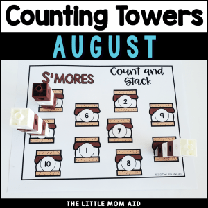 Count and Stack towers are great for preschool and kindergarten students to learn 1:1 correspondence