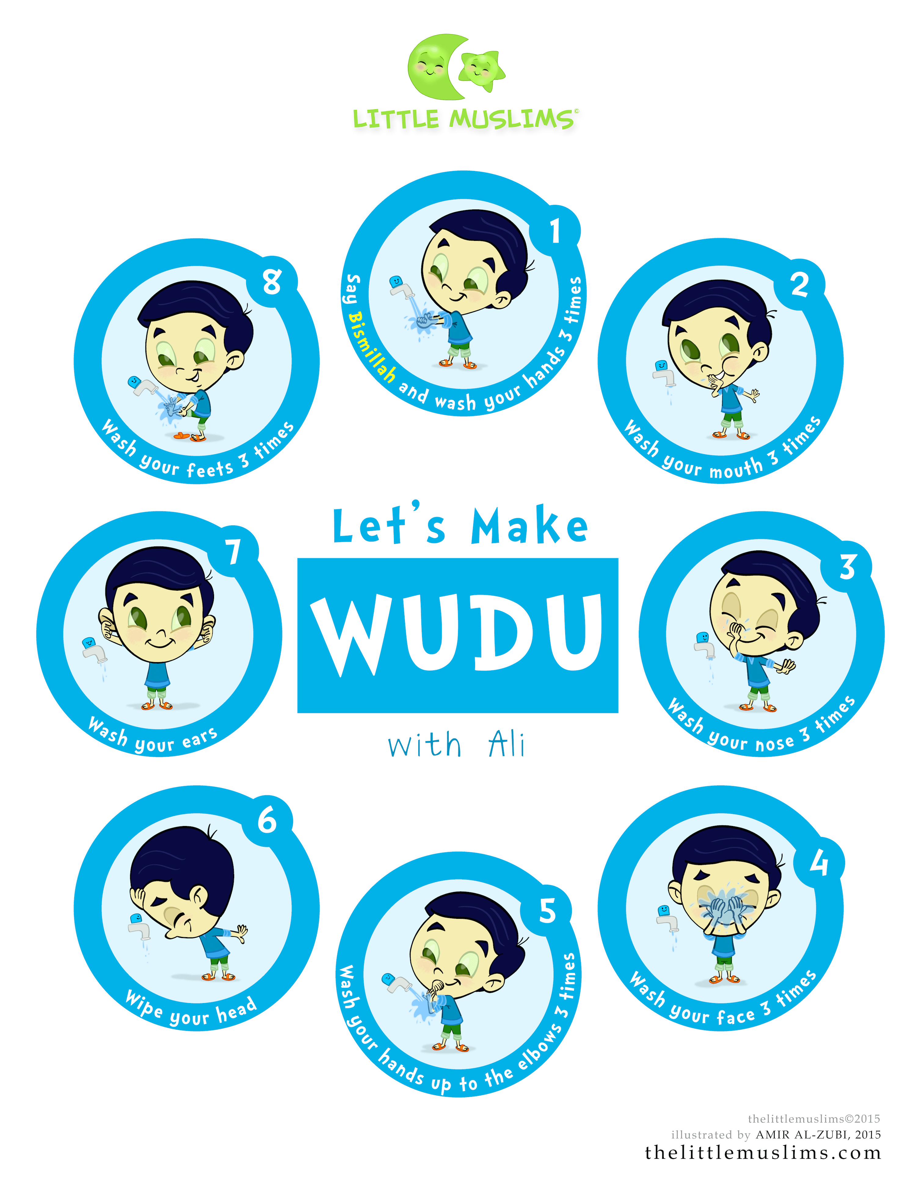 Let S Learn Wudu Poster Ali Blue The Little Muslims