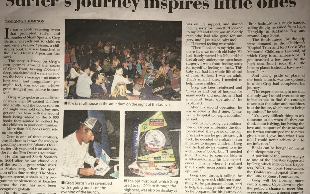 Little Optimist In The Cape Towner Newspaper