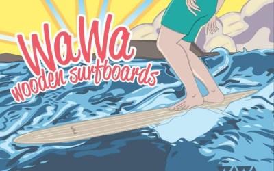WAWA Wooden Surfboards on board!