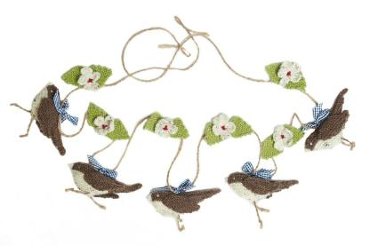 Knitting kit - knitted bunting - songbirds