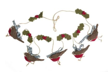 Knitted Christmas Bunting - Robin