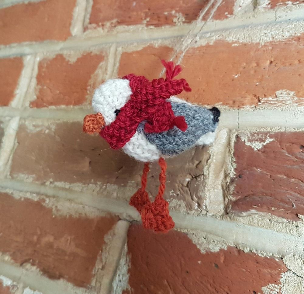 Our Hand Knitted Seagulls