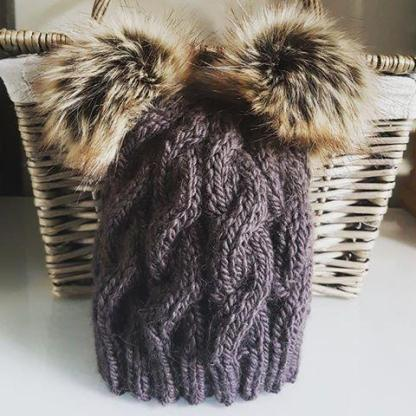 double pompom hat